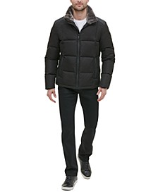 Men's Mixed Media Puffer Jacket
