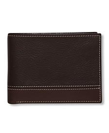 Portfolio Men's Premium Leather Sheridan Bifold Wallet