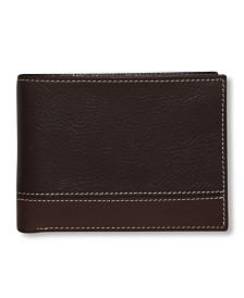 Perry Ellis Portfolio Men's Premium Leather Sheridan Bifold Wallet