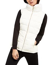 Faux-Fur Collar Vest