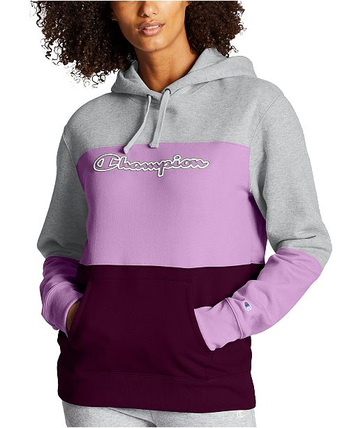 Champion Women's Powerblend Colorblocked Hoodie