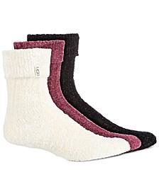 Women's 3-Pk. Cozy Sparkle Crew Socks