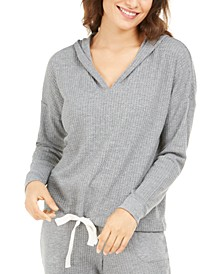 Women's Thermal V-neck Pajama Hoodie, Created for Macy's