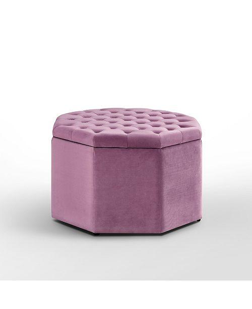 Stupendous Silvia Upholstered Tufted Octagon Cocktail Ottoman Lamtechconsult Wood Chair Design Ideas Lamtechconsultcom