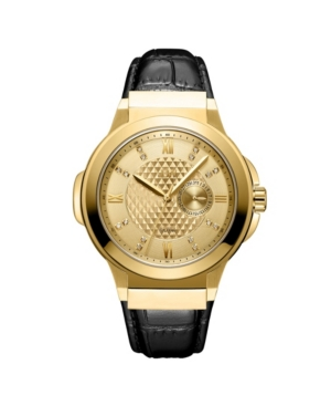 Men's Saxon Diamond (1/6 ct. t.w.) Watch in 18k Gold-plated Stainless Steel Watch 48mm