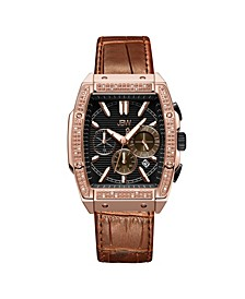 Men's Echelon Diamond (1/4 ct. t.w.) Watch in 18k Rose Gold-plated Stainless Steel 41mm