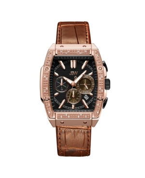 Men's Echelon Diamond (1/4 ct. t.w.) Watch in 18k Rose Gold-plated Stainless Steel 41mm