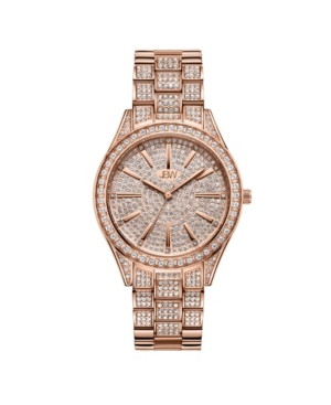 Women's Cristal Diamond (1/8 ct. t.w.) Watch in 18k Rose Gold-plated Stainless-steel Watch 38mm