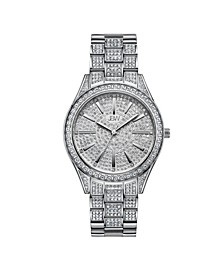 Women's Cristal Diamond (1/8 ct. t.w.) Watch in Stainless Steel Watch 38mm