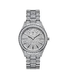 JBW Women's Cristal Diamond (1/8 ct. t.w.) Watch in Stainless Steel Watch 38mm