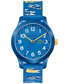 Kid's 12.12 Blue Logo Silicone Strap Watch 32mm