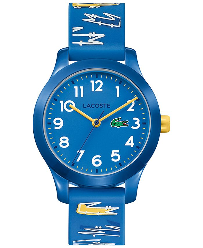 Lacoste - Kid's 12.12 Blue Logo Silicone Strap Watch 32mm