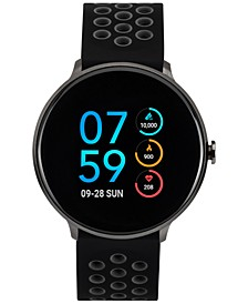 Sport Black & Gray Silicone Strap Touchscreen Smart Watch 43.2mm