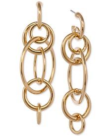 Gold-Tone Multi-Link Statement Earrings