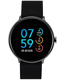 Sport Black Silicone Strap Touchscreen Smart Watch 43.2mm