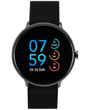 Sport Black Silicone Strap Touchscreen Smart Watch 43.2mm