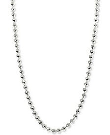 Beaded Ball Chain Necklaces in 14k White Gold