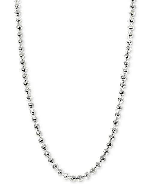 Alex Woo Beaded Ball Chain Necklaces in 14k White Gold