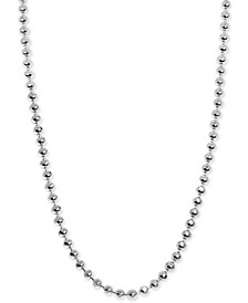 Beaded Ball Mini Chain Necklaces in Sterling Silver