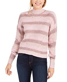 Striped Mock-Neck Sweater