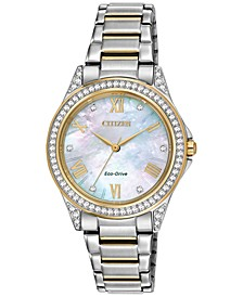 Drive From Eco-Drive Women's Two-Tone Stainless Steel Bracelet Watch 34mm