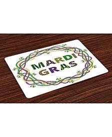Mardi Gras Place Mats, Set of 4