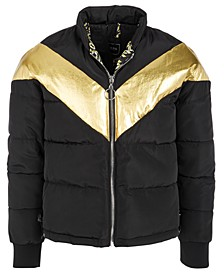Big Girls Metallic Puffer Jacket