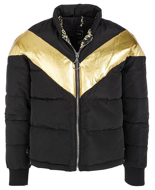 GUESS Big Girls Metallic Puffer Jacket