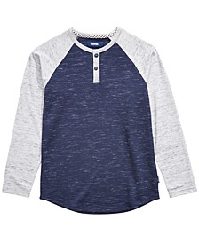 Big Boys Kondo Colorblocked Thermal-Knit Henley