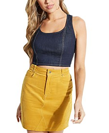 Paula Denim Crop Top