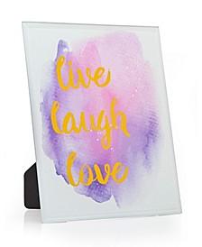 Live Laugh Love Watercolor Plaque