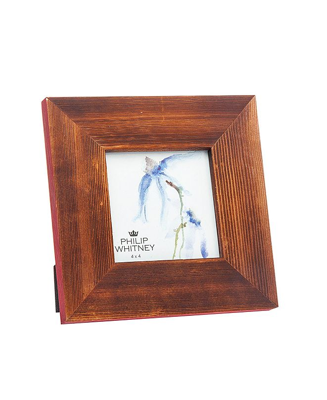 "Philip Whitney Wood Red Edge Frame - 4"" x 4"""