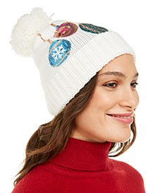 Sequined Mixed Baubles Beanie, Created For Macy's