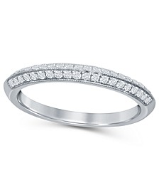 Diamond (1/2 ct. t.w.) Knife Edge Band in 14K White Gold