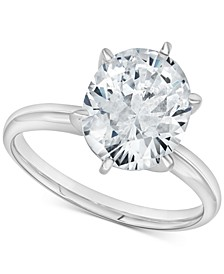 Diamond Oval Solitaire Engagement Ring (2 ct. t.w.) in 14k White Gold