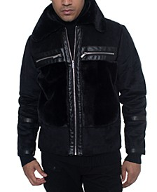 Men's Fleece Trimmed Bomber Jacket, Created For Macy's