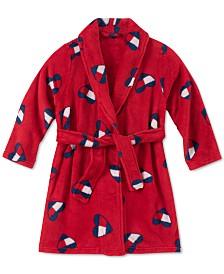 Tommy Hilfiger Toddler, Little & Big Girls Heart Flag-Print Plush Robe