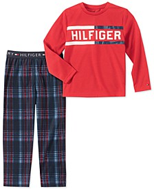 Toddler, Little & Big Boys 2-Pc. Plaid Pajama Set
