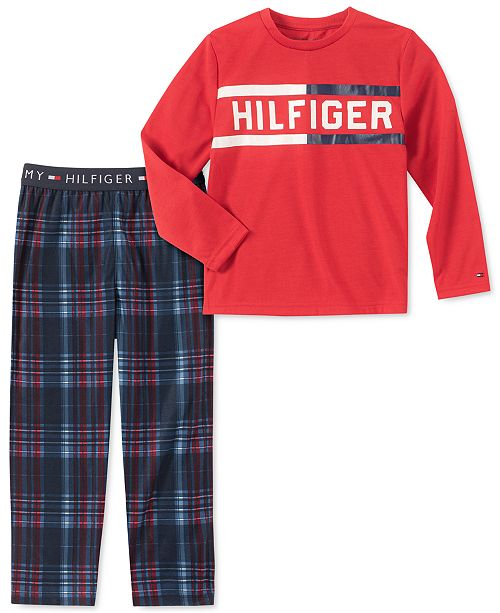 Tommy Hilfiger Toddler, Little & Big Boys 2-Pc. Plaid Pajama Set