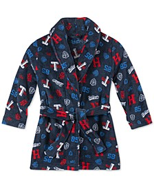Toddler, Little & Big Boys Printed Plush Robe