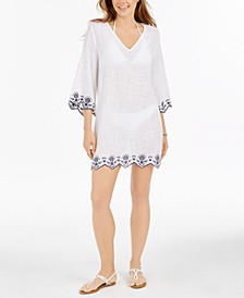 Rosemary Cotton Embroidered Tunic Cover-Up