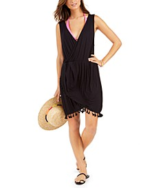 Resort Tassel-Trim Dress Cover-Up