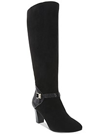 Sharonn Wide-Calf Dress Boots, Created for Macy's