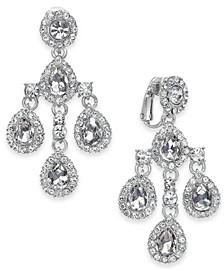 Crystal Teardrop Chandelier Clip-On Earrings, Created For Macy's
