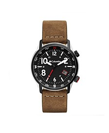Men's Outbacker Brown Leather Strap Watch 42mm