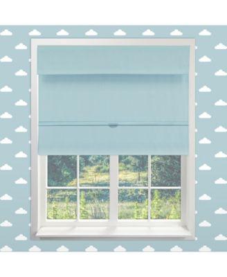 "Cordless Magnetic Roman Shades, Room Darkening Fabric Window Blind, 39"" W x 64"" H"