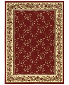 1590/RED/5PCT Tuscany Trellis Red Set Area Rug