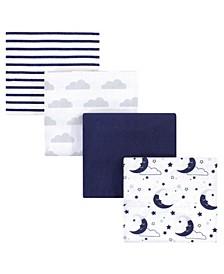 Flannel Receiving Blanket, 4 Pack