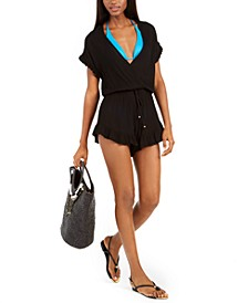 Treasure Ruffle-Trim Romper Cover-Up, Created For Macy's