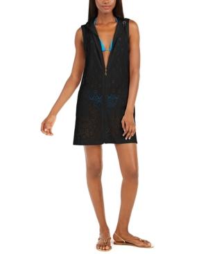 Gypsy Gem Crochet Hoodie Cover-Up Women's Swimsuit